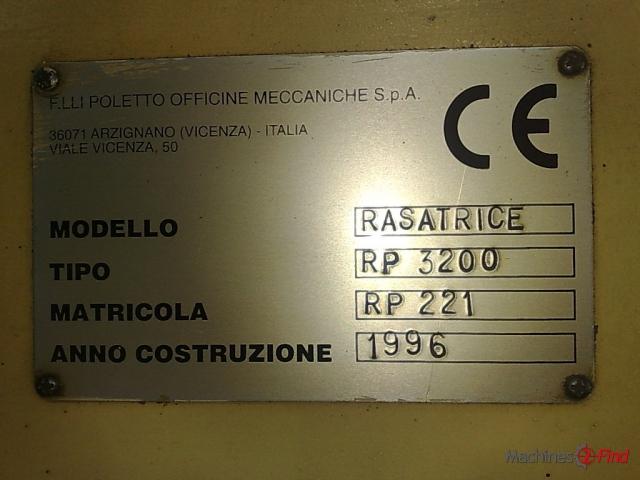 Shaving machines - Poletto - PR 3200