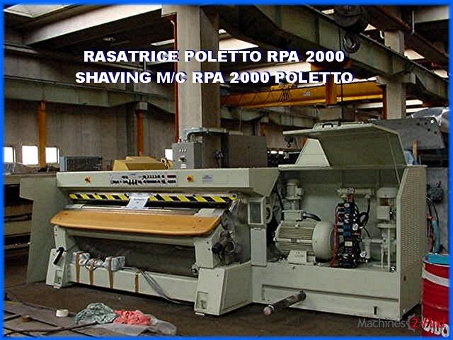Shaving machines - Poletto - RPA 2000