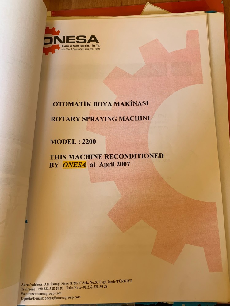 Spraying machines - Onesa - Rotary Spraying